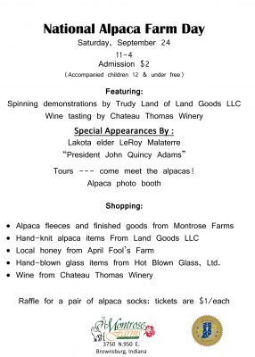 @ Montrose Farm in Brownsburg, Indiana September 24, 11-4