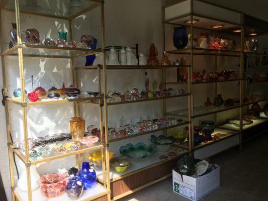 Wow!! New Gallery Shelves @HBG - Hot Blown Glass